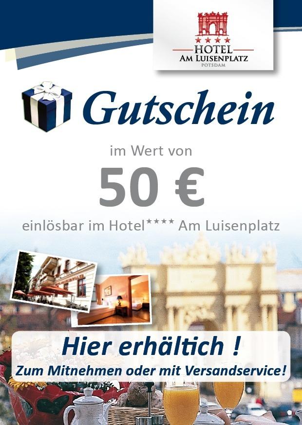 Hotelgutscheine Potsdam Wertgutschein